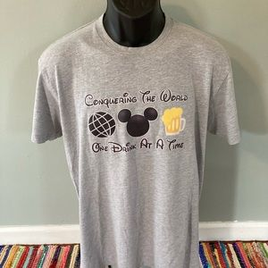 Epcot Conquering The World One Drink At A Time Tee